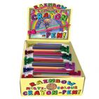 Rainbow Crayon Pen 8 Colour Multi Coloured Colouring By House Of Marbles - Age 3 Plus